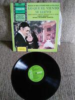 """LO QUE EL VIENTO SE LLEVO SOUNDTRACK LP VINILO VINYL 12"""" SPAIN EDIT VG/VG 1978"""