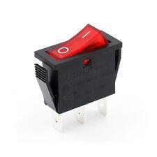 Red Light Indicator SPST On-Off Boat Rocker Switch 15A/250V 15A/125V UL VDE list