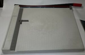 "Skilcraft Tabletop Drop Knife Beige 18"" x 18"" Manual Paper Trimmer NSN1632568"