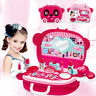 Pretend Play Cosmetic and Makeup Toy Set Kit for Little Girls Kids Beauty SalonD