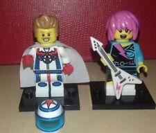 Rare Lego Series 7 minifigures - Rocker Girl & Daredevil