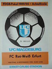 Programm Pokal 1989/90 1. FC Magdeburg - RW Erfurt
