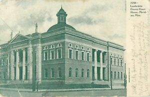 1909 Lauderdale County Court House, Meridian, Mississippi Postcard
