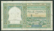 BANQUE D'ETAT DU MAROC 1000 FRANCS 18 06 1946