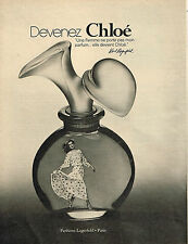 PUBLICITE ADVERTISING 024   1978   KARL LAGERFELD   parfum CHLOE