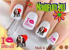 "RTG Set#140 DOG BREED ""Pitbull Love 1 Lips"" WaterSlide Decals Nail Art Transfers"