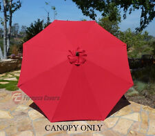 9ft Patio Outdoor Yard Umbrella Replacement Canopy Cover Top 8 Ribs Red