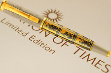 PELIKAN FOUNTAIN P. CALCULATION OF TIMES F-nib  Limited Edition LE 18ct Gold Nib