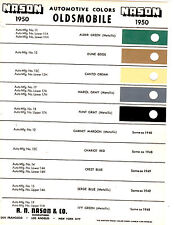 1950 OLDSMOBILE DYNAMIC SUPER 88 FUTURAMIC 98 DELUXE 50 PAINT CHIPS NASON 3