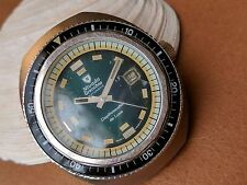 Vintage Nivada Grenchen Depthmaster Compensamatic 100ATM Divers Watch FOR PARTS