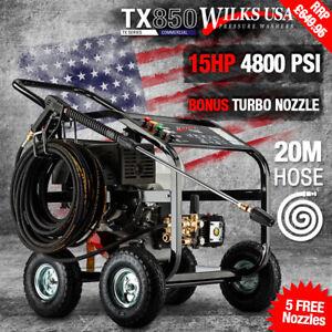 Wilks-USA TX850 Petrol Pressure Washer 15hp Engine High Power Jet Cleaner Patio