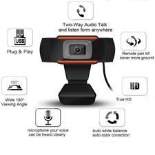 New listing 1x 180° Webcam Auto Focusing Web Camera 1080P Hd With Mic For Pc Laptop Video Us