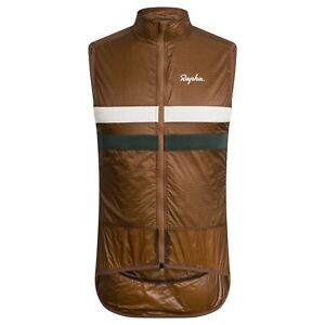NEW Rapha Men's Cycling Brevet Insulated Gilet Vest XL Brown White Green DWR