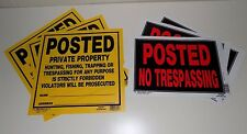Set of 6 No Trespassing Signs