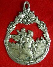 """Rare Médaille de ProcessionARGENT"""" St. CHRISTOPHE """" XIXe. SILVERMEDAL"""