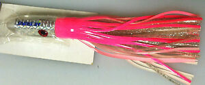 HI SEAS - SIRIOS TROLLING LURE - SOFT HEAD - 1 LURE - PINK / WHITE / SILVER