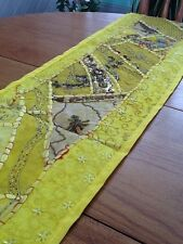 Table Runner - Yellow w/hand-beading