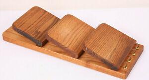 Vintage Wooden Letter Organizer Wall Mail Sorter w/ Key Hooks