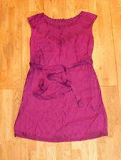 Dark Pink East Asian Style Womens Dress - Size 10 UK Euro 38