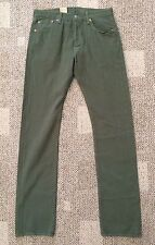 Mens 42 X 30 Meadow Moss Green Levi's 501 Pants Jeans Straight Leg Button Fly