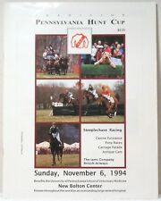 1994 PENNSYLVANIA HUNT CUP PROGRAM Steeplechase Racing Horse PA Races Riding