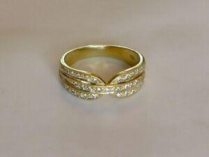 Élégant Diamant Robe Bague En 18K or Jaune