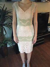 BRAND NEW DOLCE & GABBANA SEXY Pink & Beige Floral Lace Dress Sz 40 4 NWT
