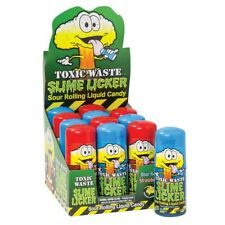 Toxic Waste Slime Licker. Full case of 12-8ct boxes. 96 pcs total. Tik Tok Candy