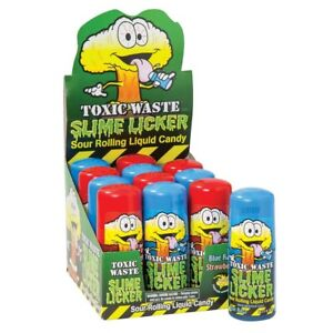 Toxic Waste Slime Licker. Full box of 12. Sealed, Tik Tok Candy FREE SHIPPING