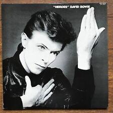"""David Bowie """"Heroes"""" Japan LP 1977 RVP-6243 + Insert"""