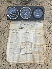 VINTAGE HOT RAT ROD CHEVY FORD AUTOMETER AUTO GAUGE CLUSTER WATER OIL AMPS COUPE