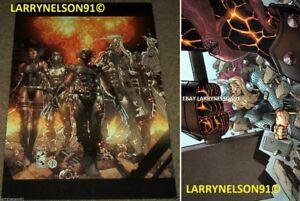 X-FORCE POSTER THOR PSYLOCKE DEADPOOL WOLVERINE FANTOMEX ARCHANGEL MARVEL #1 #5