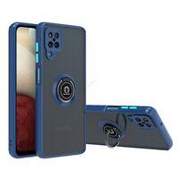 For Samsung Galaxy A12 Slim Soft TPU Shockproof Case Hybrid Rotation Ring Cover