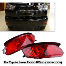 Rear Bumper Light Fog Lamp Brake Red For Lexus RX330 RX350 RX400h 2004-2009