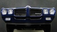 Pontiac GTO 1970s Muscle Car 1 18 Hot Rod Race Dragster Carousel Blue Model 24