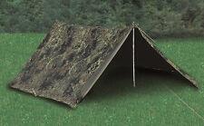 Mil-Tec BW 2-Personen-Zelt Campingzelt Flecktarn Bundeswehr 225x145x105cm GEBR.