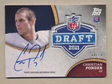 CHRISTIAN PONDER 2011 Topps Rising Rookies NFL Draft Patch AUTO #d /25 SEMINOLES