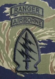 US Army Cut Edge Special Forces Shoulder Patch OG-107 Twill Subdued Set 03