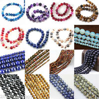 Natural Agate Sand Loose Stone Beads Jewelry DIY Making Charm Crafts Gifts Acces