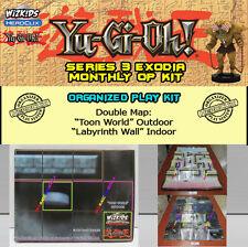 "YUGIOH HEROCLIX SERIE 3 EXODIA OP KIT: Mapa/Map ""Toon World"" / ""Labyrinth Wall"""