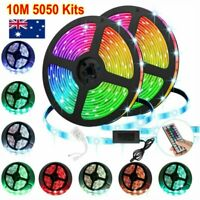 10M RGB 5050 SMD LED Strip Lights Full Kit 44 Key Remote controller 12V AU Power