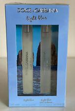 NEW! DOLCE & GABBANA D&G 2-PC LIGHT BLUE TRAVEL PERFUME FRAGRANCE SPRAY SET $58