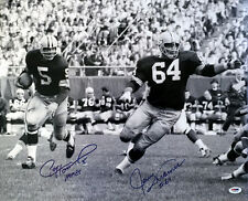PAUL HORNUNG & JERRY KRAMER DUAL SIGNED AUTOGRAPHED 16x20 PHOTO PACKERS PSA/DNA
