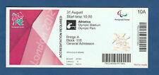 Orig.Ticket   Paralympics LONDON 2012 - LEICHTATHLETIK 31.08. / 11 Finals !! TOP