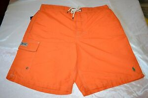 Polo Ralph Lauren Swimming Board Trunks Color Fiesta Orange Men's Size Large NWT