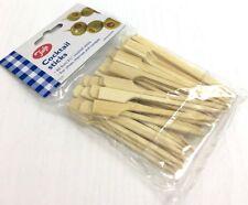 Tala 50 X De Madera Cóctel Palos de bambú 9 cm pinchos, canapés, Buffet, Burger, nuevo