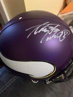 Adrian Peterson Autographed Vikings Authentic Full-Size Football Helmet Fanatics
