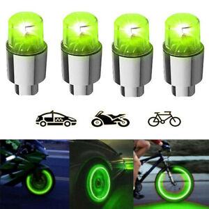4x Car Truck SUV Wheel Tire Tyre Air Valve Stem LED Light Caps Car Accessories