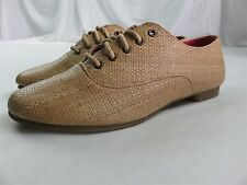 GUPPY LOVE BY BLOWFISH Womens Lace Up Casual Oxfords Flats Shoes TAN Size 9 NEW