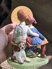 The 12 Norman Rockwell Porcelain Figurines Young Love 1980 Danbury Mint